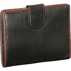 Derek Alexander 3 Part Show Card Wallet - Black/Brown - via eBags.com!