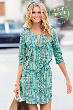 Pretty and polished: the belted shirt dress. | Belted Shirt Dress
