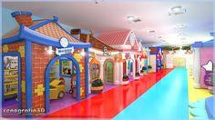 As Brinquedotecas Temáticas possuem atividades interativas que auxiliam o aprendizado, o desenvolvimento de habilidades e a socialização das crianças. Espaços com casinhas temáticas onde formam a mini cidade propõe muita imaginação e diversão aos baixinhos.