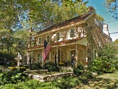 amazing ideas for old stone house 9 > Fieltro. Stone Exterior Houses, Old Stone Houses, Old Houses, Farm Houses, Dream Houses, Stone House Revival, Stone Farms, Chester County, Country Landscaping