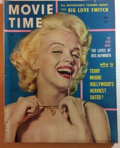 FEB 1954 MARILYN MONROE ON COVER GRADE VG - MOVIE TIME 86 PAGES MAGAZINE | eBay