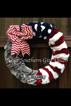 Red White & Blue Military wreath by SSGDecor on Etsy, $60.00