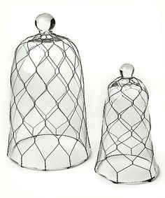 Another great find on #zulily! Farmhouse Glass Cloche Set by Napa Home & Garden #zulilyfinds