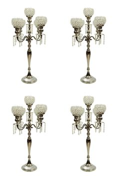 Wholesale 5 Arm Crystal Candelabras Wedding Centerpieces Candle Holders 4 PC Set for sale online Candleabra Wedding Centerpieces, Candelabra Centerpiece, Crystal Centerpieces, Crystal Candelabra, Uplighting Wedding, Wedding Reception Flowers, Wedding Reception Decorations, Reception Ideas, Wedding Ideas