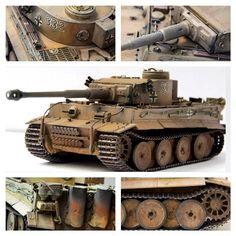 Tiger I by Tamiya. Hемецкий тяжёлый танк времён Второй мировой войны. Масштаб модели: 1/35 Длина в собранном виде: 242 мм. Особенности модели: фигурка командира танка; два ствола на выбор.