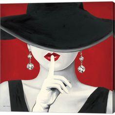Marco Fabiano 'Haute Chapeau Rouge I' Canvas Art