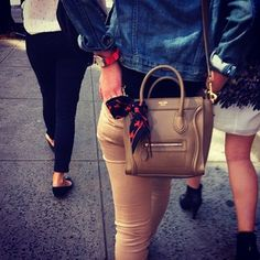 Streetstyle: Hermes + Celine. Photo by Allegra Colletti
