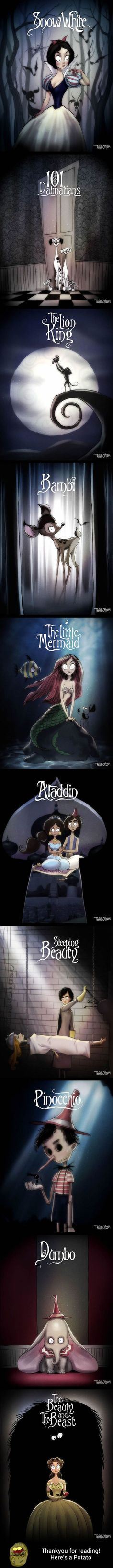 What if Tim Burton directed all Disney classic movies