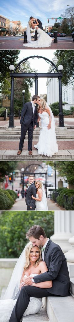 Lindsey & Matt in Athens, GA | Athens Wedding Photos | UGA Arch Campus Bell