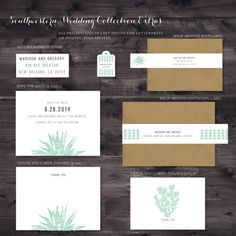 Southwestern Cactus Mint Green Wedding Invitation Collection EXTRAS on Etsy, $0.20