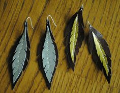 Collect & Carry: DIY: Feather Earrings from Leather Scraps