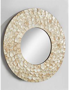 Spiegel rund Wandspiegel Wanddeko Wandschmuck Wohnzimmer Badspiegel natur