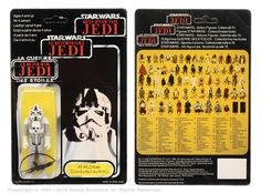 """Palitoy/General Mills Star Wars Return of the Jedi Tri-Logo AT-AT Driver 3 ¾"""" vintage figure, Near Mint to Mint, within Good to Good Plus (indented) bubble, upon Excellent un-punched 70B card back. Estimate: £80 - £100"""