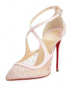 ef9766631cb2 Christian Louboutin  Hot Spring Butterfly  100mm Red Sole Pumps ...