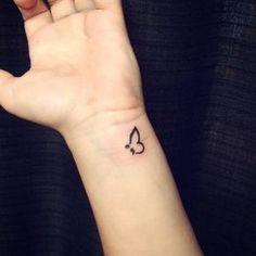 Unique Black Ink Semicolon Tattoo On Wrist Tattoo semicolon tattoo meaning Semicolon Butterfly Tattoo, Semicolon Tattoo Meaning, Unique Semicolon Tattoos, Small Butterfly Tattoo, Meaningful Tattoos, Butterfly Wings, Form Tattoo, Shape Tattoo, Tattoo On