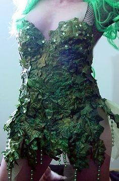 Sexy Burning Hot Poison Ivy Fairy Nymph Costume Dress CUSTOM Made 4U. $145.95, via Etsy.