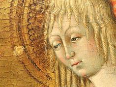 Giovanni di Paolo, Fragment of an Altarpiece with the Virgin, c. 1460-1465, tempera and gold on panel, detail - Mount Holyoke College Art Museum, Massachusetts, USA