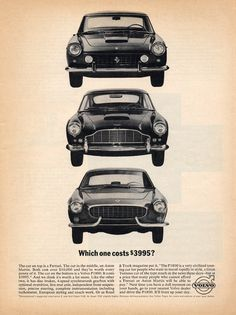 Volvo was asking the tough questions back in the 60's. Ferrari, Aston-Martin, Volvo 1800S