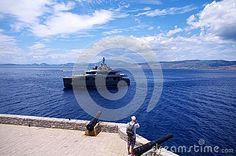 Super Yacht Arriving In Idra - Greek islands - Download From Over 26 Million High Quality Stock Photos, Images, Vectors. Sign up for FREE today. Image: 44685118