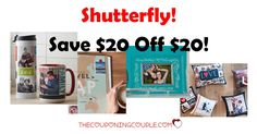 WOW! Get $20 off a $20 purchase at Shutterfly!  What a great time to grab some gifts or maybe make a photobook with all those favorite photos!  Click the link below to get all of the details ► http://www.thecouponingcouple.com/10-off-10-purchase-at-shutterfly/ #Coupons #Couponing #CouponCommunity  Visit us at http://www.thecouponingcouple.com for more great posts!