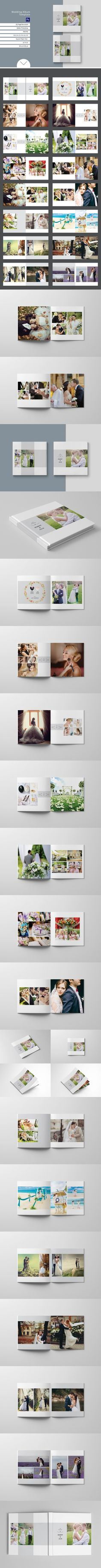 Wedding Album Template. Wedding Fonts. $22.00