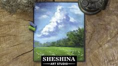 How to draw cloudy sky landscape with soft pastels Sheshina Ekaterina