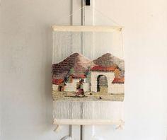 woven wall hanging weaving textile art от bohemiennes на Etsy