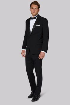 eae7bcab Moss Esq. Regular Fit Black Notch Tuxedo Jacket Let™s talk about the  classics