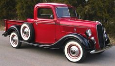 1937 Ford Pick-Up Truck Had the style, even back in the day!