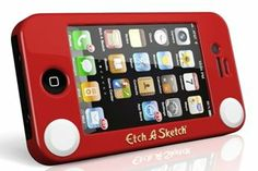 Funny Etch-A-Sketch iphone case. It comes in giant ipad version too!
