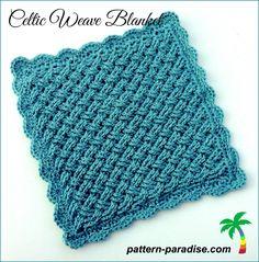 Crochet Afghans FREE Crochet Pattern – Celtic Weave Blanket - Free Crochet Pattern for Celtic Weave Blanket by Pattern Paradise Baby Blanket Crochet, Crochet Baby, Free Crochet, Knit Crochet, Blanket Yarn, Blanket Stitch, Easy Crochet, Crochet Coaster, Beginner Crochet
