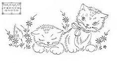 Znalezione obrazy dla zapytania kitten embroidery designs