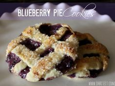 Blueberry Pie Cookies!
