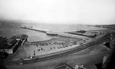 CAPE TOWN PIER  The construction of a pier at the bottom of Adderley Street was completed in 1913 . It contained an amphitheatre, restaurant, observation tower, bathing cubicles and a landing stage for sailing and rowing boats