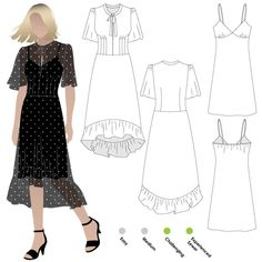 Valentina Dress Sewing Pattern By Style Arc