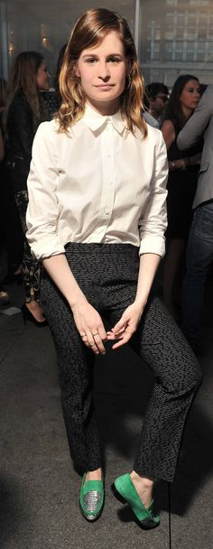 Christine and the Queens wears a Chloé top and trousers from the Fall 2014 collection to perform at the Love Story fragrance launch party in Paris, July 2014. #chloeGIRLS