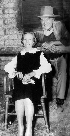 John Wayne With Mom Mary Alberta Brown, Known As Molly.