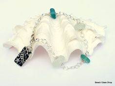 Sea Glass Bracelet Lake Erie Cleveland Beaches by beachglassshop, $34.00