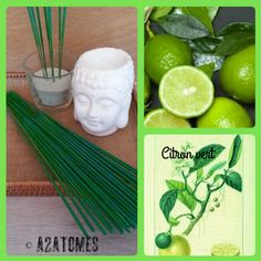 Encens parfum citron vert en bâton aux Huiles essentielles naturelles - pochette de 20 bâtons de la boutique A2ATOMES sur Etsy
