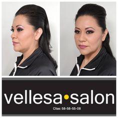 Maquillaje práctico y te hace lucir hermosa. #vellesasalon #judithluna #janelly #makeup #hair #cortes #peinados #maquillajes