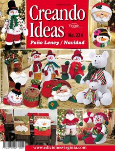 Creando Ideas 224 Book Crafts, Crafts To Do, Craft Books, Country, Advent Calendar, Christmas Ornaments, Holiday Decor, Creando Ideas, Angeles