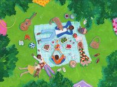 Picnic - 1000pc Jigsaw Puzzle by Lemonade Pursuits - SeriousPuzzles.com