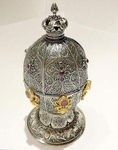 Russian Silver Art egg