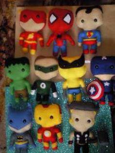 Felt superheros for Ian's room :) Love them!
