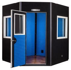 Our five sided Diamond Series VocalBooth, with non parallel walls in a single or double wall design, is ideal for any recording or sound isolation application