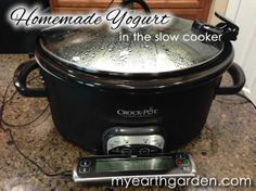 Homemade Yogurt in the Slow Cooker from Michael Nolan's My Earth Garden