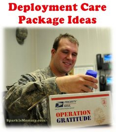 Tons of Deployment Care Package Ideas | Sparkle Mommy