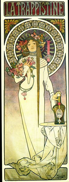 La Trappistine, Alphonse Mucha. The first print I saw of his and I instantly fell in love, in 1996.