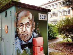-Auguste Perret- Street art in Saclay, France by C215