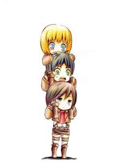 Stop panicking Eren, it's Mikasa, you won't fall heh.